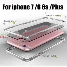 Metal bumper for iphone 6 6s plus Luxury case aluminum +PC back Cover for iphone6S 6plus iphon Metal Case for iphone 7plus