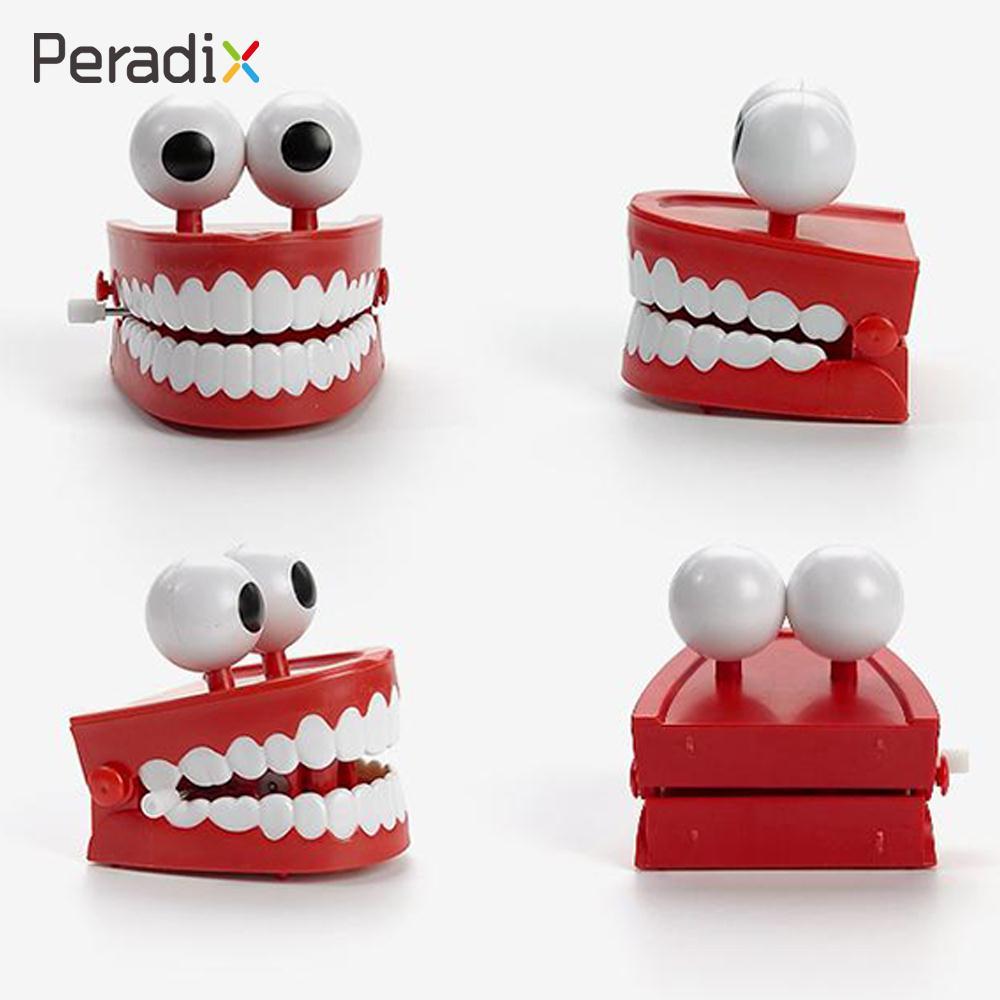 Plastic+Electric Clockwork Teeth Toys Windup Teeth Novelty Windup ...