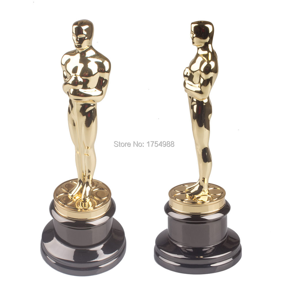 Oscar Figur Creative Black Crystal Trophy Figurines Home Statue Crafts Gold