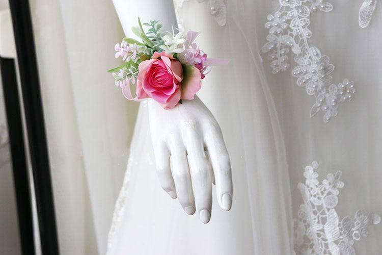 pink wrist corsage boutonniere wedding  (22)