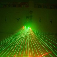 New Design Party Led Green Palm Light Hand Laser Gloves With 5 Pcs Lasers 3 Pcs