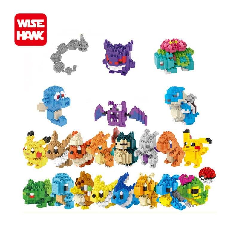 Полный набор 22 шт. Wisehawk наноблоки японские фигурки микроразмерные блоки lno пластиковые кирпичи развивающие игрушки для детей