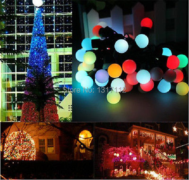 10 Bulb Christmas Lights Promotion-Shop for Promotional 10 Bulb ...:10*10m 100LEDs Ball String Fairy Lights Luces De Navidad Natal Garden  Wedding Party Christmas lights outdoor,Lighting