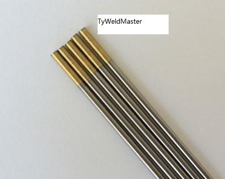 Professional 1.5% Lanthanated WL15 TIG Welding Tungsten Electrode 3.0mmx150mm 10pcs/Pack AWS LA-1.5 AC DC Golden wt20 tig welding tungsten electrode 2