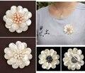 Shell Natural pérola flor broche moda