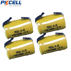 4 X Ni-Cd 4/5 SubC Sub C 1.2V 1200mAh Rechargeable Battery with Tab - Color Free Shipping