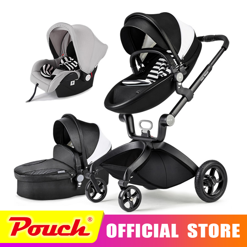 Hot Mom stroller stroller high landscape can sit or lie pneumatic wheels portable baby stroller trolley free delivery Hot Mom luxury baby stroller high landscape baby carriage for newborn infant sit and lie four wheels