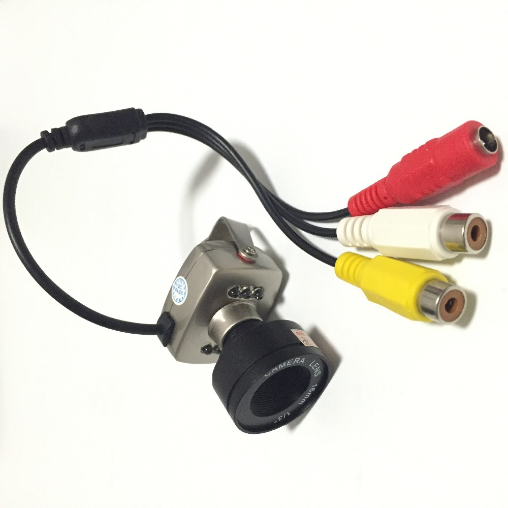 16mm lens Wired CCTV Mini Camera Security Color 940nm Night Vision Infrared Video Mic Cam