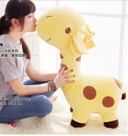 big lovely cartoon spots giraffe toys cute yellow giraffe plush doll birthday gift about 75cm big cute plush cow toy lovely high quality cartoon cow doll gift about 40cm