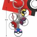 5 styles/set Pocket Monster Pokeballs Pikachu Bulbasaur Cyndaquil Pendants Keychain Action Figures Japan Anime Kids Gifts Toy #E