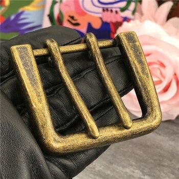 цена на Alloy Double Buckle Belt Leathercraft Garment  Accessories Heavy 42MM Metal Belt Buckles For Men Clip  Buckle For Belt AK0010