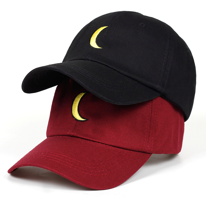 2019 new moon Dad Hat Cartoon Embroidered   Baseball     Cap   Curved fashion brand snapback Hip-hop   cap   hats Bone Garros