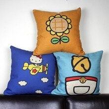 Animação criativa dos desenhos animados olá Kitty doraemon gato girassol throw pillow pillow case capa atacado