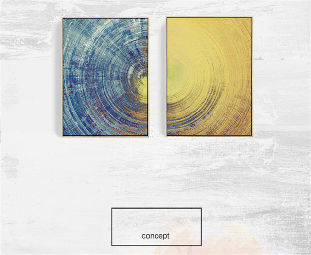 Abstract Sun And Moon Earth Texture Canvas Mural Paper No Frame