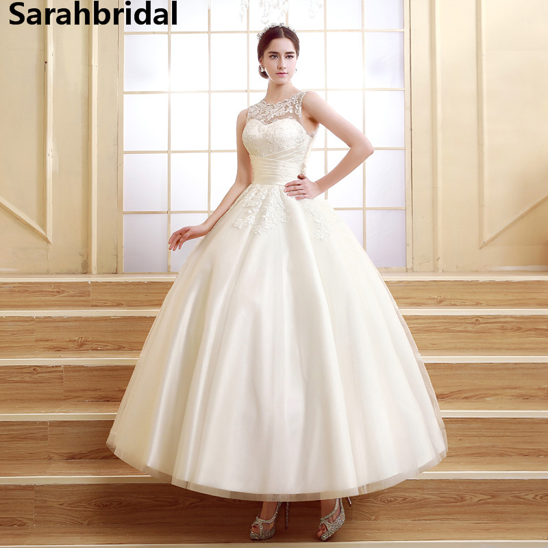 ankle length wedding gowns