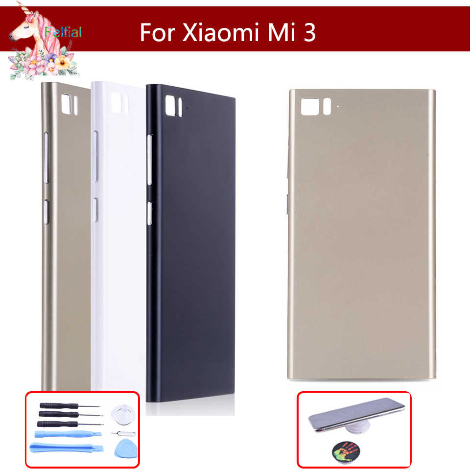 Original For Xiaomi Mi3 M3 Mi 3 Back Battery Cover Door Rear Housing Case Replace For M3 Mi 3 Battery Cover with Side Button