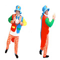 Christmas Halloween Adult Clown Costume for Adults Clown Funny Dress Cosplay Costumes Jumpsuits New Year Performance Wear