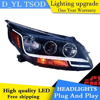 Car Styling Head Lamp for Malibu Headlights 2012-2014 Malibu LED Headlight DRL Daytime Running Light Bi-Xenon HID Accessories