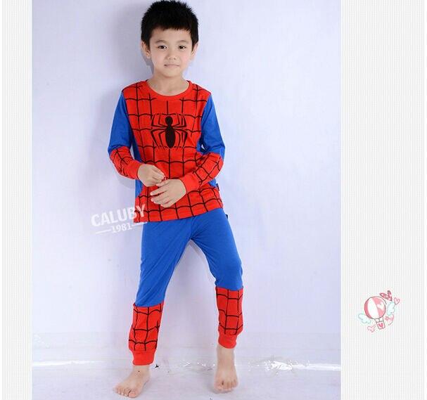 Boys Geyim dəsti uşaq pijama Spiderman Ironman paltar dəsti - Uşaq geyimləri - Fotoqrafiya 6