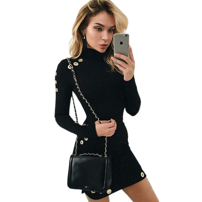Online Get Cheap Black Wrap Dress Long Sleeve -Aliexpress.com ...