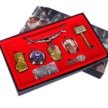 Марвел винтажные игрушки Мстители Бесконечная война Капитан Америка танос Железный человек Халк косплей ожерелье брелок подарочная упаковка коробки