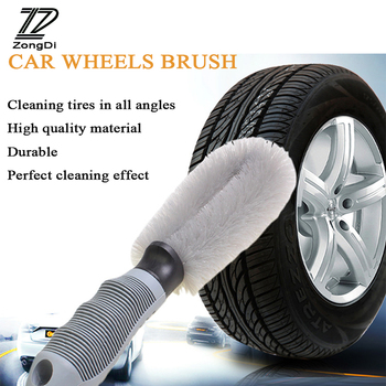 ZD 1Pc Car Hub clean brush for Mercedes Benz W203 W204 W211 Volvo S60 XC90 XC60 S80 Subaru Forester XV Accessories 2017 image