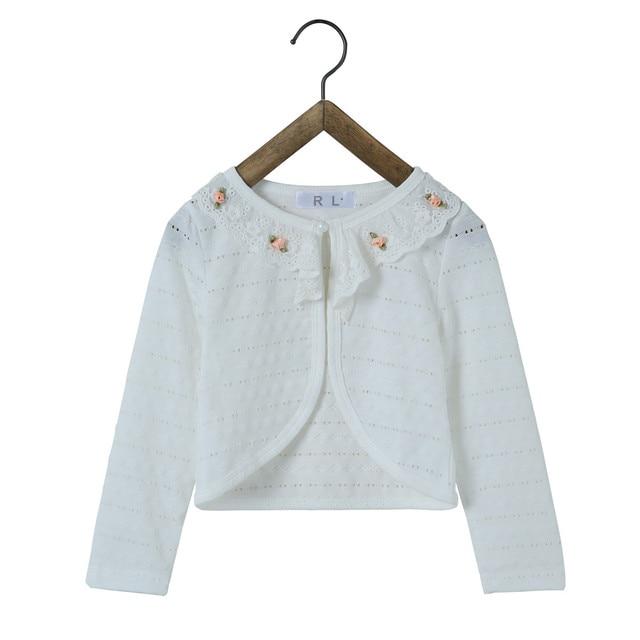 bf2f48699bf5 RL Princess Wear Long Sleeve Kids Cardigan Girls Coat Children Pearl ...