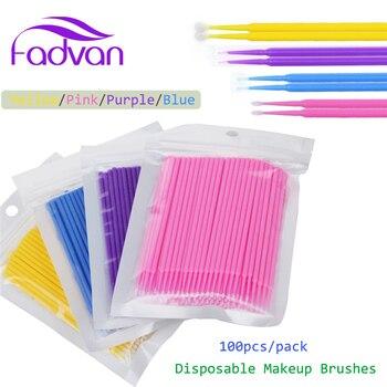 100/200pcs Micro Disposable Eyelash Extension Clean Brush Individual Applicators Mascara Brush Women Eyelash Glue Cleaning Stick