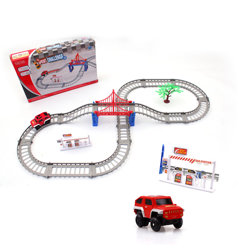 BP1511194 Novelty Spiral Track Roller Coaster Toy Electric Rail Car Novelty Rail Car Assembling Toys for Kid Christmas Gift
