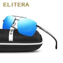 ELITERA Brand Design Rimless Classic Polarized Sunglasses Me