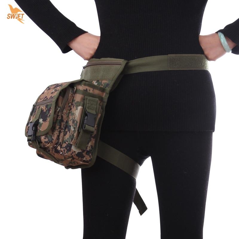 Military Drop Leg Bag 2017 Men Waterproof Nylon MOLLE Utility Waist Pack Belt Pouch Tactical Fanny Pack Hiking Shoulder Bags drop shoulder plain coat with belt