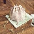 Nueva Marca de Fábrica Famosa Mujeres Messenger Bags Fashion Cordón de LA PU Bolso de Cuero Bolsa de Hombro Del Monedero Del Totalizador Del Mensajero de La Taleguilla Cross Body
