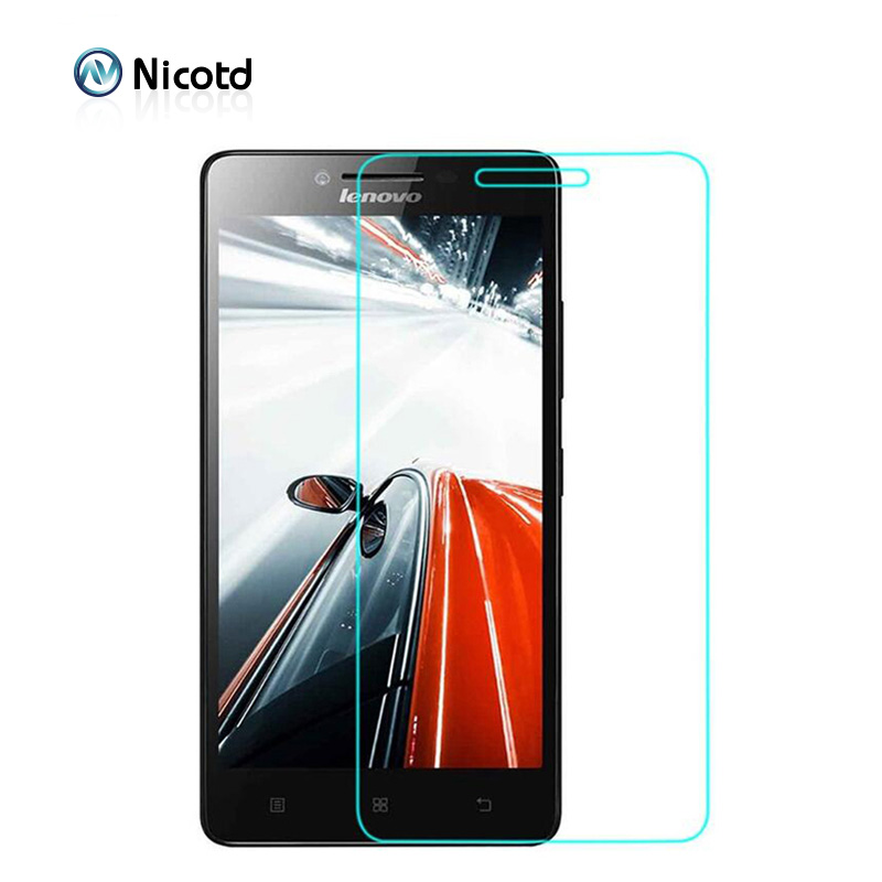 Nicotd Explosion-proof Tempered Glass For Lenovo A6000 k3 Lemon 6010 Screen Protector glass film On A6010 A6000-l A 6000 Plus