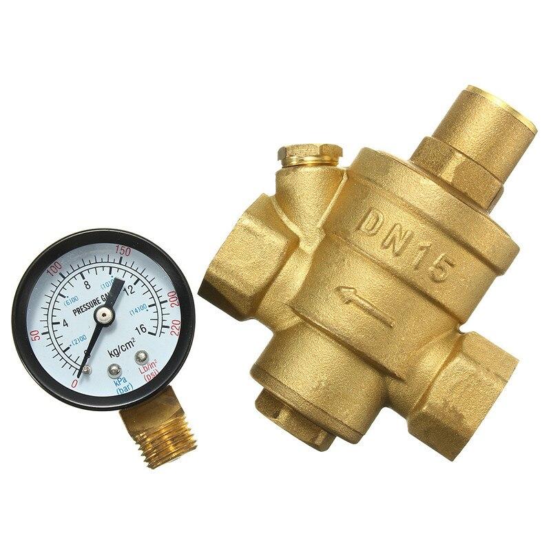 free shipping 1 brass dn25 water pressure regulator with gauge pressure maint. Black Bedroom Furniture Sets. Home Design Ideas