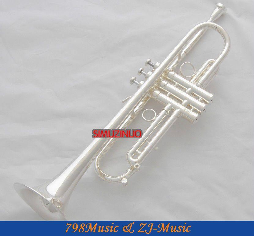 전문 새로운 실버 트럼펫 Bb 키 Monel 밸브 호른 케이스