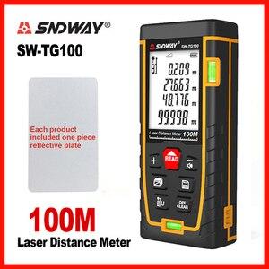 Image 2 - SNDWAY 레이저 거리 측정기 레이저 거리 버블 레벨 전자 테이프 눈금자 광학 기기 파인더 레이저 거리 측정기