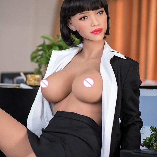 165cm 일본 실리콘 섹스 인형 애니메이션 큰 가슴 섹스 인형, 현실적인 전신 성인 사랑 인형 금속 해골, 진짜 질 구강