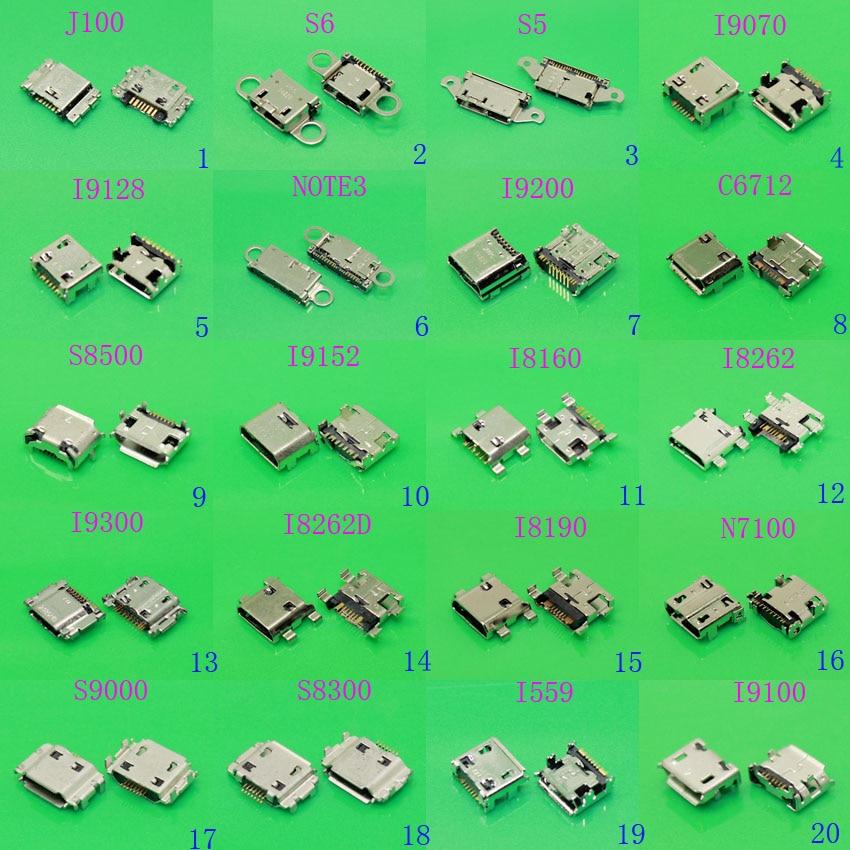 20models For Samsung galaxy j1 j100 J5 J500 J7 J700 micro usb connector mini usb port pcb charger charging plug dock jack socket