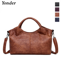 Yonder brand new arrival genuine leather handbag women shoulder bag female Sheepskin large tote bag ladies messenger bag yellow