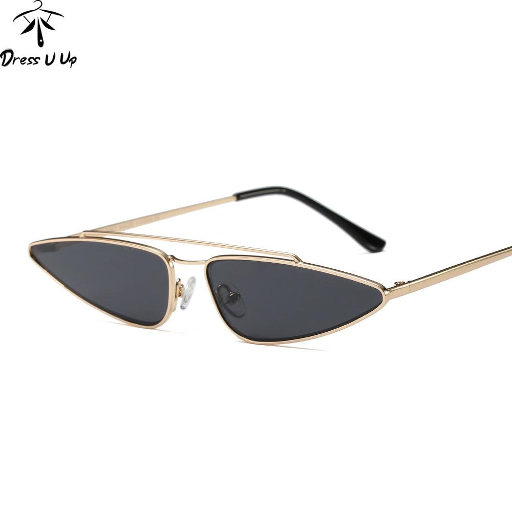 d916cfcb4f DRESSUUP De moda pequeña gota forma De gafas De Sol De las mujeres  diseñador De la marca De ojo De gato De los hombres Vintage, gafas De Sol,  ...