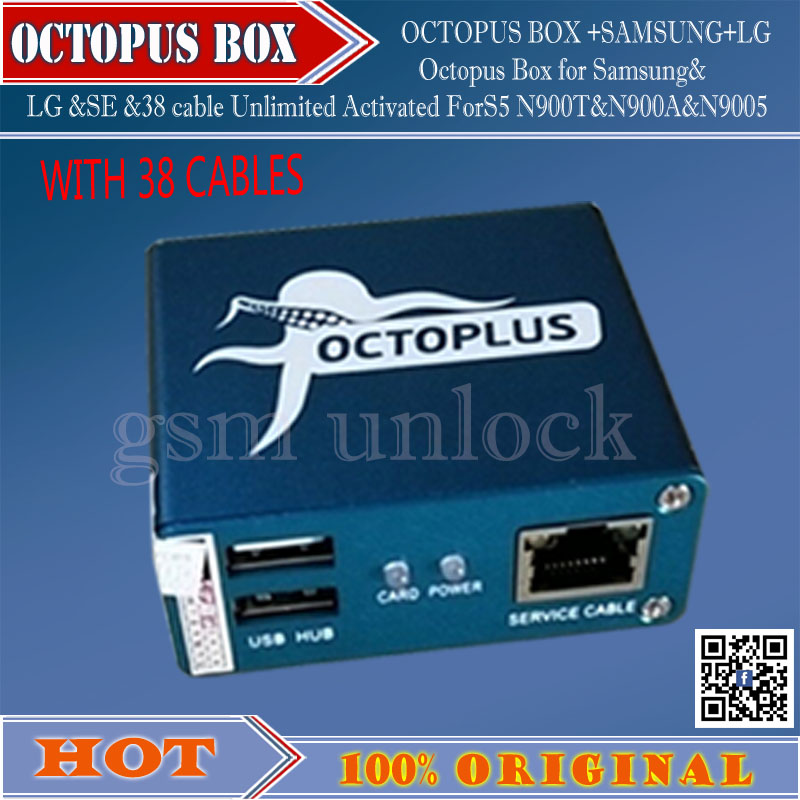 US $285 38 |gsmjustoncct Full activated Octopus Box + 38 in 1 Full Cable  Set for LG and for Samsung Unlock Flash & Repair Free ship-in Telecom Parts