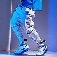 Joggers Pants Men Big Pockets Red Gray Cargo Harem Pant 2019 Hip Hop Casual Streetwear Trousers Male Pant Fashion WM02