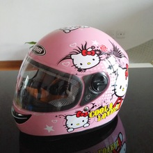 Pink cat children motocross ful face motorcycle helmet ,MOTO electric bicycle safety headpiece for  child kids
