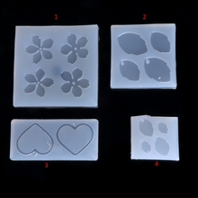 JAVRICK ewelry Mold Flower Leaves Heart Shape Making Pendant Silicone Resin Craft Tools