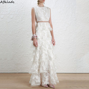 White lace hollow out patchwor