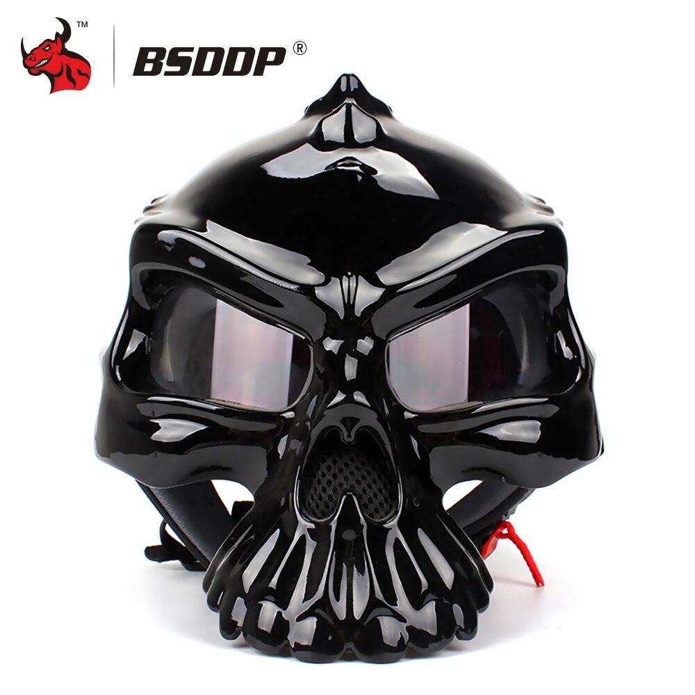 BSDDP Motorcycle Helmet Retro Casque Half Face Moto Helmet Summer Breathable Men Skull Capacete Casco Capacetes De Motociclista
