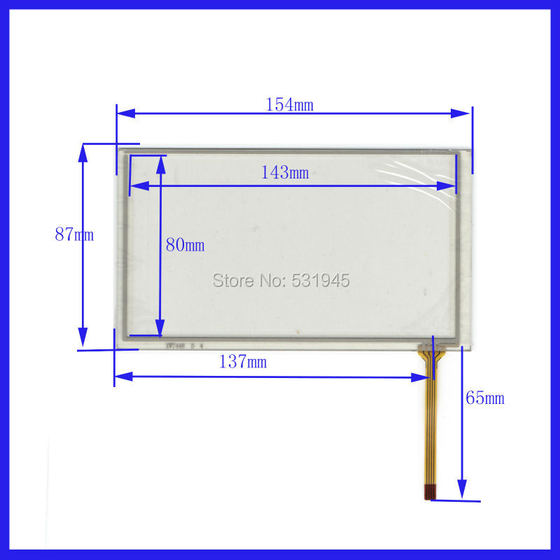 NEW Resistive tinch touch screens 6.2 inch 4 lines touch screen 154* 87mm screen XWT448 GLASS on TM062RDH display