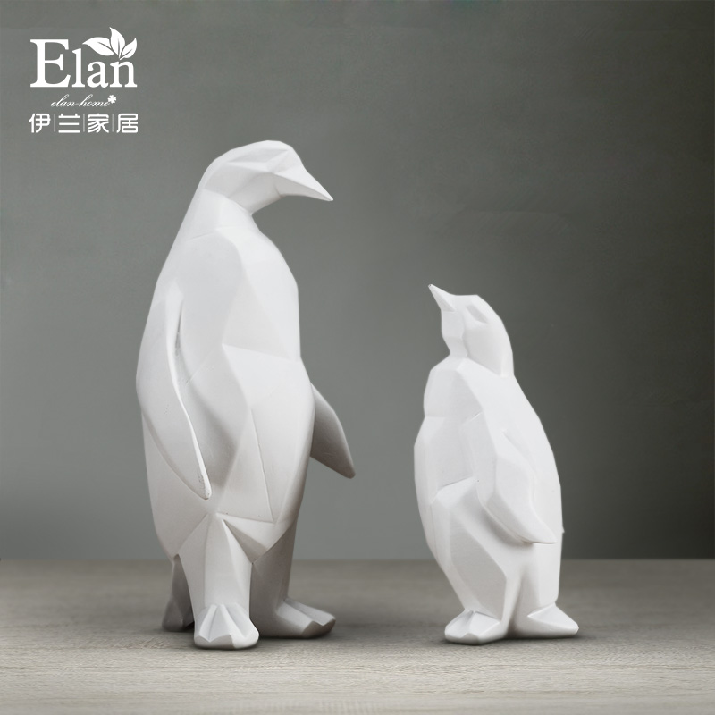 White resin geometry abstract penguin figurines home decor crafts room decoration objects vintage ornament resin animal figurineWhite resin geometry abstract penguin figurines home decor crafts room decoration objects vintage ornament resin animal figurine