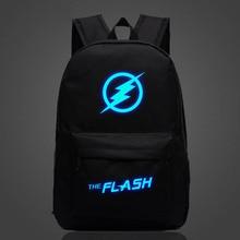Hot Sale Movie The Flash Star Luminous Backpack For Teenage Boys Girls Casual Bagpacks Cool School Bags Mochila Escolar
