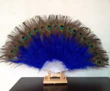 Nice Feather Fan For Dance Props Hand Peacock Tail Folding Wedding Wonderful